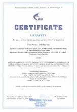 Certificate of safety Infusión UJAN NOMO (Arco flexible), 30 bolsitas
