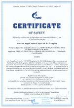 Certificate of safety<br>BCAA Complex Siberian Super Natural Sport. BCAA Complex