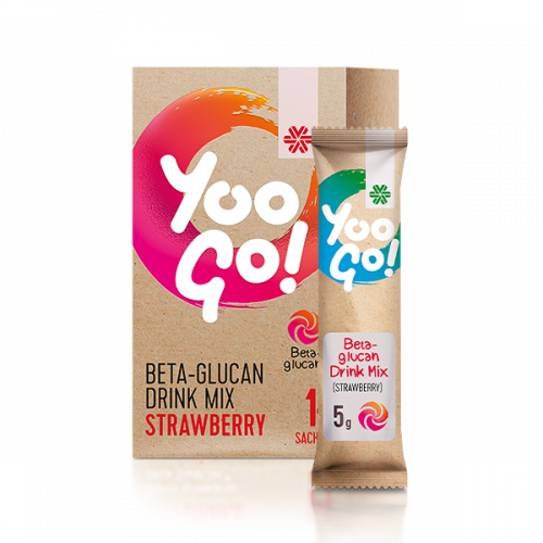 YOO GO! BETA-GLUCAN DRINK MIX (STRAWBERRY)